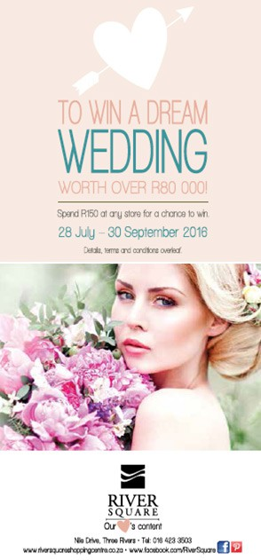 To win a dream wedding worth over R80 000